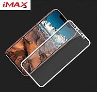 Защитное стекло 3D для iPhone X iMAX из японского закаленного стекла белое, фото 1