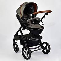 Детская коляска трансформер JOY 8681 Серый с коричневым (GBK-014)
