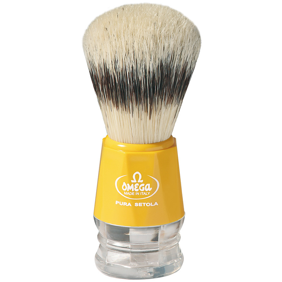 Помазок для бритья Omega 10218 желтый