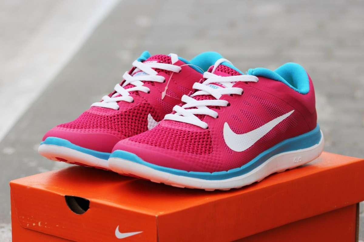 5583fadc Женские кроссовки Nike Free Run 4 0 розовые с голубым 1668 35,36,37 ...