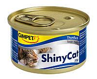 Консервы Gimpet Shiny Cat для кошек, c курицей и креветками, 70г