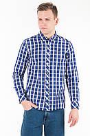 Мужская клетчатая рубашка с длинным рукавом Small chech shirt от Mustang jeans в размере M