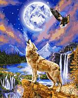 Картина по номерам 40×50 см. Волчья ночь, фото 1