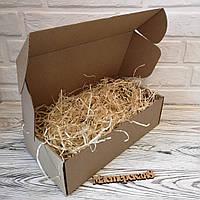 Подарочная коробка 300*150*90мм с декоративным наполнителем для подарка, минибутылки, самосбор