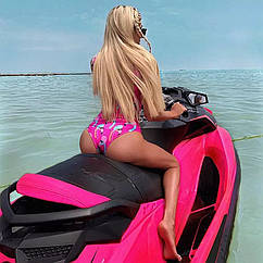 Купальник слитный Фламинго розовый