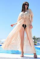 Пляжная женская длинная туника большие размеры А8041 8041-3