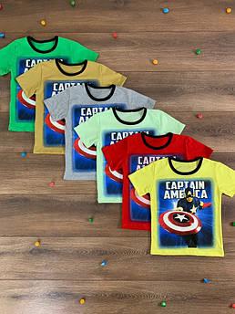 Футболка для мальчика Капитан Америка Размер 110 - 140 см