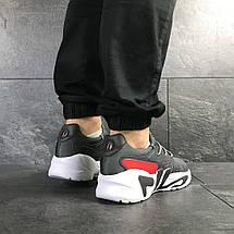Мужские летние кроссовки Fila,серые, фото 2
