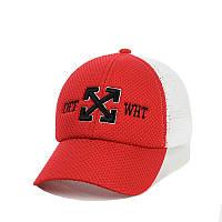 Молодіжна кепка з сіткою і вишивкою