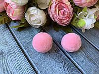 Помпон велюр 3 см, 20 шт/уп., нежно-розового цвета