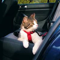 Пояс-шлея безопасности в авто Trixie, нейлоновый, красный, 20-50см