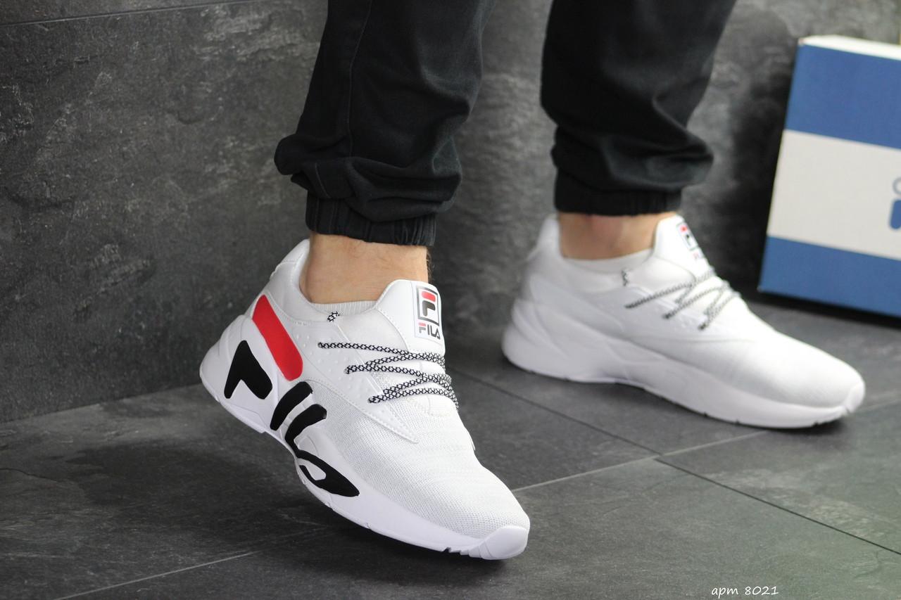Мужские летние кроссовки Fila,белые