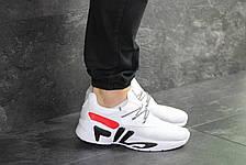 Мужские летние кроссовки Fila,белые, фото 2