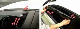 Ветровики, дефлекторы окон Mitsubishi Aspire Sedan 1996-2003 'Cobra tuning'