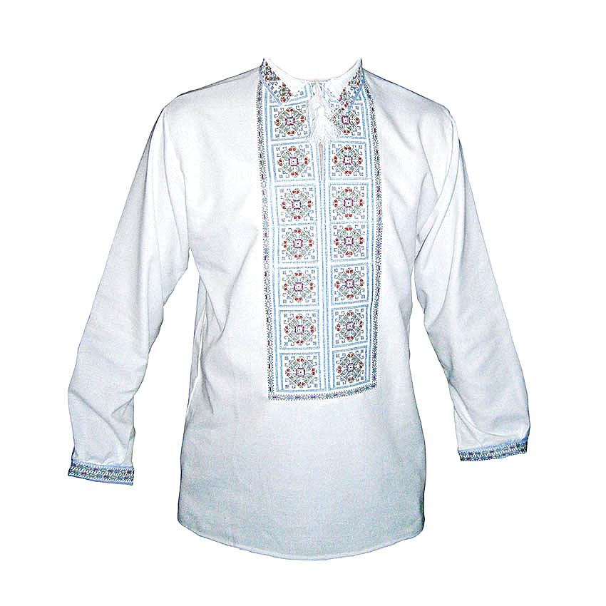 Вышиванка мужская Авторская вышиванка 48 Белый (5755)