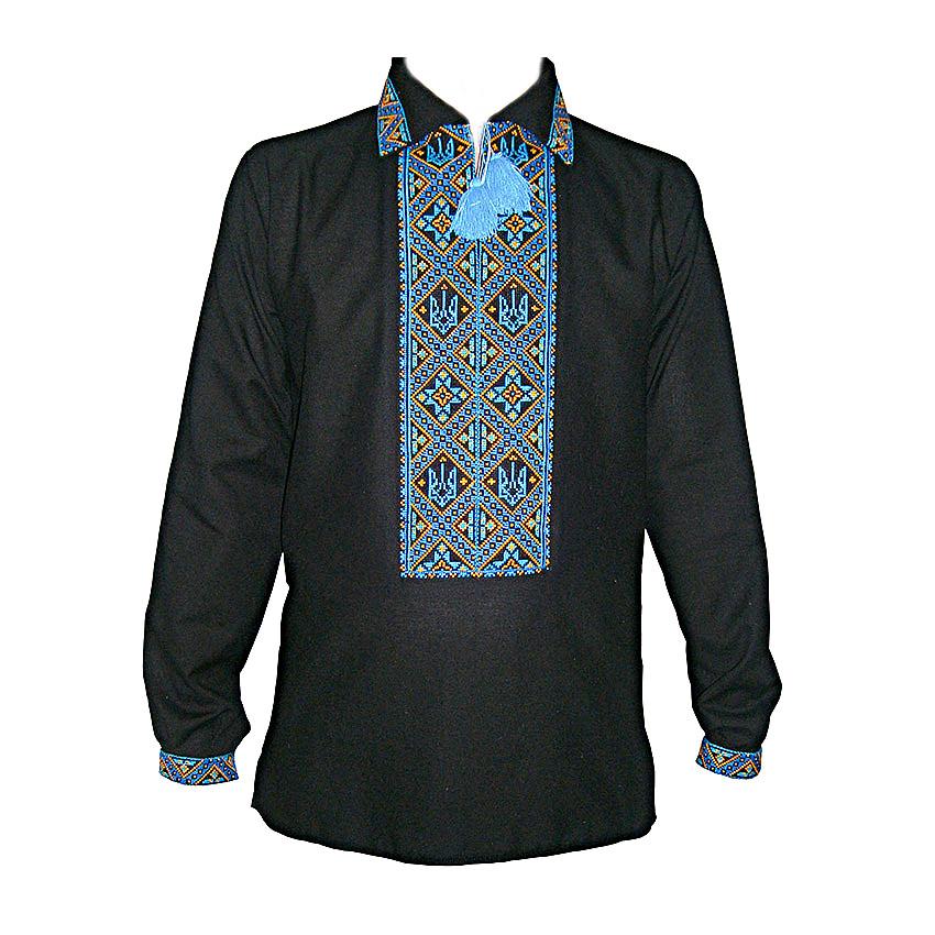 Вышиванка мужская Авторская вышиванка 42 Чёрный (5683)