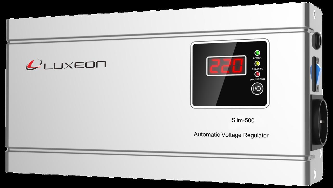 Стабилизатор напряжения релейный Luxeon SLIM 500