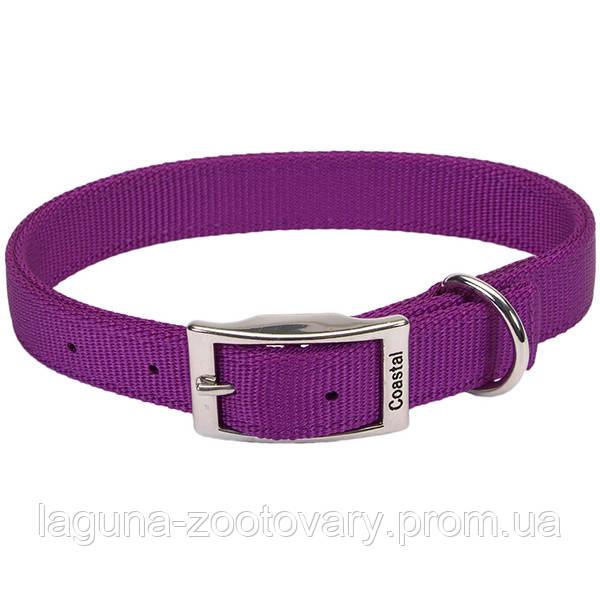 Coastal Double Ply двойной ошейник для собак, 2,5х65см, пурпурный, нейлон
