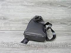 Сумка через плечо серого цвета, велосипеда на два отдела, регулируемый ремешок, материал искусственная кожа, фото 3