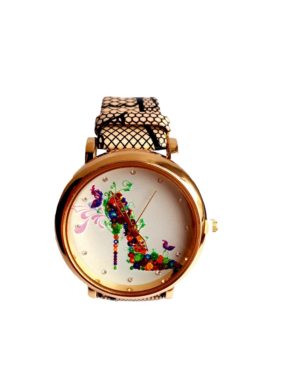 Часы женские CFTY Бежевые (ТБЖ-0032)