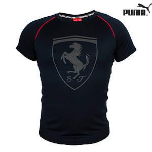 Футболка мужская реплика Puma Ferrari (черный)