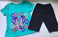 Комплект для девочки летний хлопковый рост 110-116 детская одежда недорого