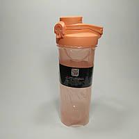 Шейкер для спортивных коктейлей So Kid (700 мл) оранжевый. Спортивная бутылка с поилкой