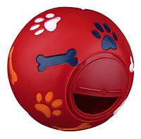 Кормушка-мяч для кота Trixie, пластиковая, 11 см