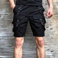 Шорты карго мужские Пушка Огонь Scarstrope черные