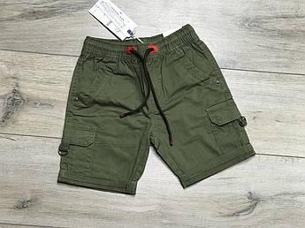 Котоновые шорты для мальчика Хаки 6 лет
