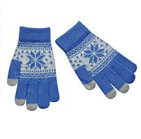 Сенсорные женские перчатки Touch Gloves Синие (TGW12)