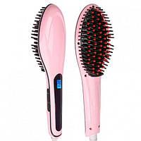Расческа-выпрямитель Fast Hair Brush Straightener Dt-9903 Розовая