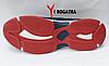 Мужские кожанные кроссовки Multi-Shoes, сетка, синие, ортопедическая стелька, легкая подошва с белым и красным, фото 5