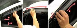 Ветровики, дефлекторы окон Nissan Qashqai +2 I 2008-2014 ХРОМ.МОЛДИНГ 'Cobra tuning'