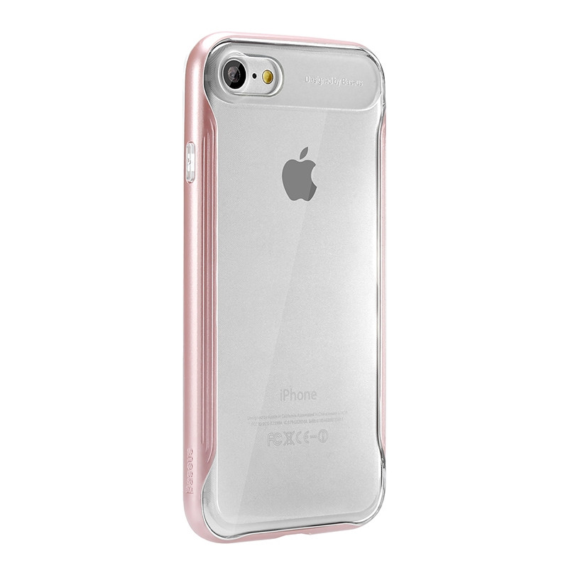 Силиконовый чехол Baseus Fusion Series для iPhone 7 Черный (FRAPIPH7-QT0R)