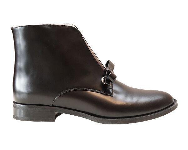 Ботинки Сristani бантик 40 Черные (50952/40)