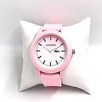 Стильные часы Lacoste в розовом