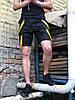 Шорты карго мужские Scarstrope черные с черно желтыми ремнями - Фото