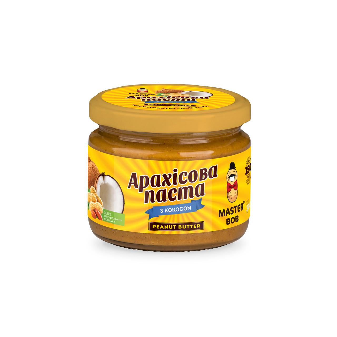 Арахісова паста Master Bob з кокосом 300 г (4820202930198)