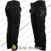 Чёрные вельветовые брюки для девочек от 4 до 9 лет (3460)