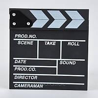 Черная кинохлопушка для кино колотушка
