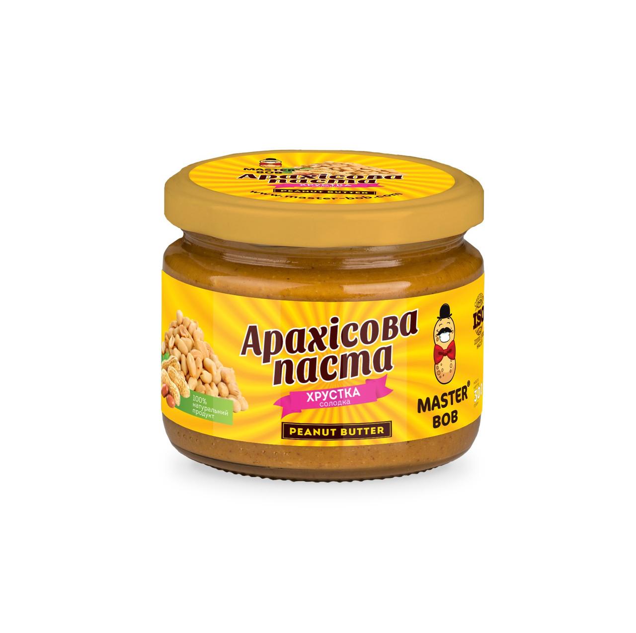 Арахісова паста Master Bob хрустка солодка 300 г (4820202930044)
