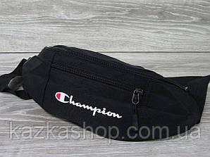 Большая мужская бананка, барыжка, сумка на пояс, с накатом в стиле Champion (реплика), полиэстер