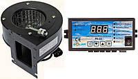 Блок управления Nowosolar PK-22 + вентилятор NWS-75 для твердотопливных котлов.