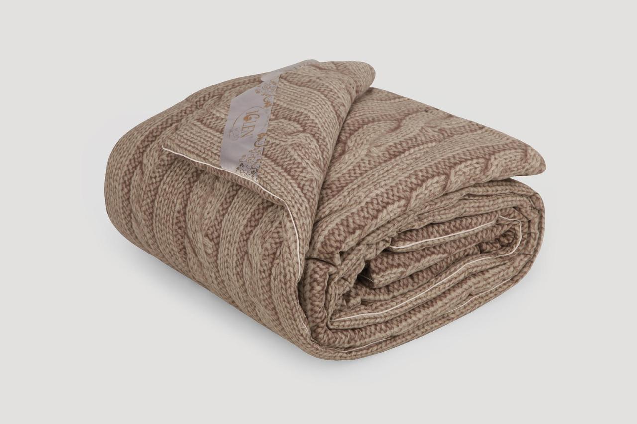 Одеяло IGLEN из овечьей шерсти во фланели Демисезонное 220х240 см Коричневый (22024051F)