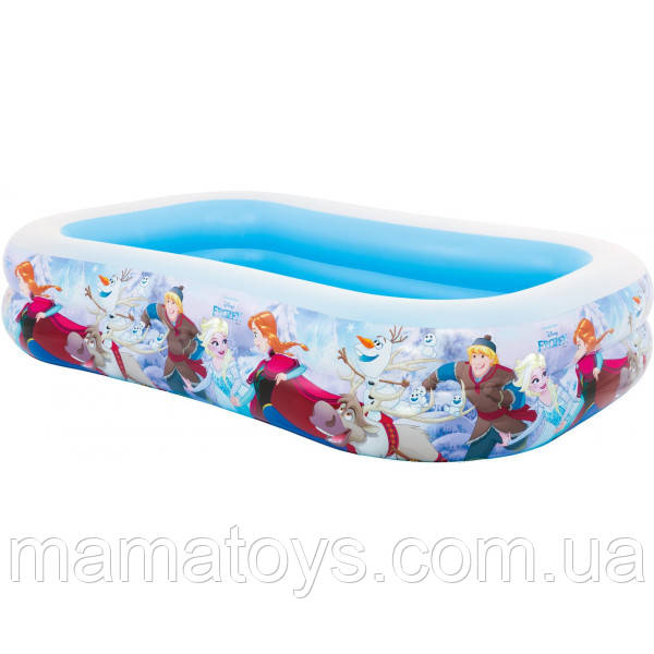 Дитячий надувний басейн 58469 NP Інтекс Фрозен Холодне Серце розміром 262 х 175 х 56 см, від 6-ти років, 796 л