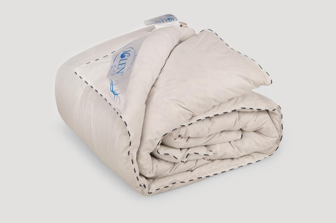 Одеяло IGLEN Roster 100% пух серый Зимнее 172х205 см Белый (1722051G)