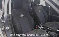 Чехлы на сиденья HYUNDAI SANTA FE CM 5 мест 2006-2012 задняя спинка закрытый тыл и сид. 1/3 2/3; подлок; 5 подгол. 'NIKA'