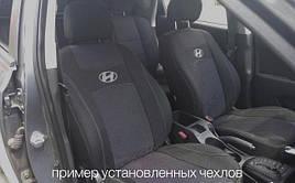 Чехлы на сиденья RENAULT CLIO 1998- задняя спинка цельная; 5 подголовников; airbag. 'NIKA'