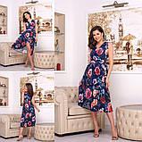 Платье с цветочным принтом / софт / Украина 15-662, фото 4